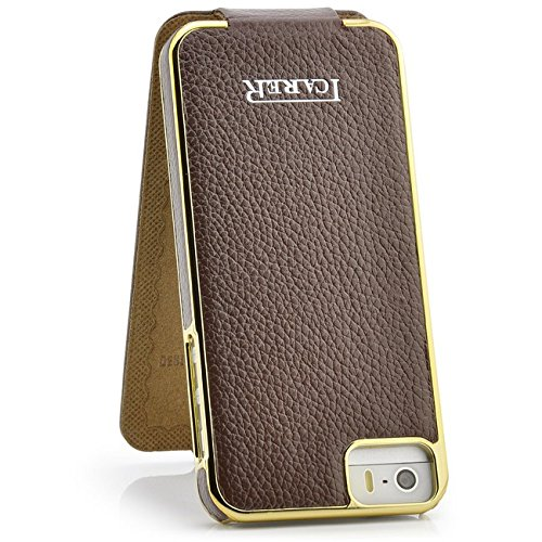 icarer-etui-rigide-a-rabat-en-cuir-electrogalvanise-pour-apple-iphone-5s-et-5-gold-edition-marron