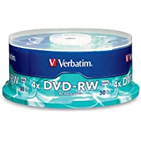 Verbatim DVD-RW 4.7GB 2X Branded 30pk Spindle 4.7GB DVD-RW 30pieza(s) - DVD+RW vírgenes (4,7 GB, DVD-RW, 120 mm, 30 pieza(s), 120 min, Eje)