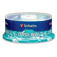 Verbatim DVD-RW offre 4.7GB ou 120 Minutes de capacité de stockage ré-enregistrable, qualité d'enregistrement supérieure et compatibilité avec les écrivains DVD-RW 1X à 2X. Verbatim 1X-2X DVD-RW est idéal pour l'archivage ou le sauvegarde de 4.7GB de...