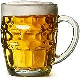 bar@drinkstuff - Juego de 4 jarras de cerveza tradicionales (cristal)