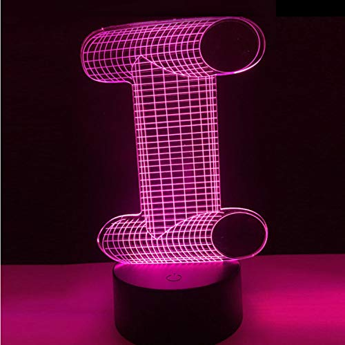 Lampe Alphabet Buchstabe I Bunte Nachtlicht Schreibtisch Tisch Led Lampe Beleuchtung Dekoration Urlaub Diy Geschenk Kind