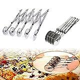 Tofree ruota in acciaio INOX taglierina a rullo strumenti accessori da taglio pasta pizza pasticceria da forno 5 wheels As Shown