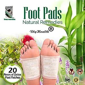 20 PC Detox Fußpflaster, DigHealth Detox Vitalpflaster, Bambuspflaster, Foot Patches, Fusspflaster zur Entgiftung, Bambus vitalpflaster zieht die Toxine, Foot Pads Vitalpflaster zum Körper Entgiften