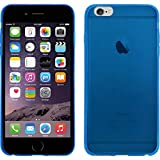PhoneNatic Apple iPhone 6s Plus / 6 Plus Hülle Silikon blau Slimcase Case iPhone 6s Plus / 6 Plus Tasche + 2 Schutzfolien
