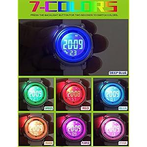 Reloj digital infantil de SKMEI, resistente al agua a 50 metros, de silicona, deportivo, para estudiantes, niños y niñas, retroiluminación LED