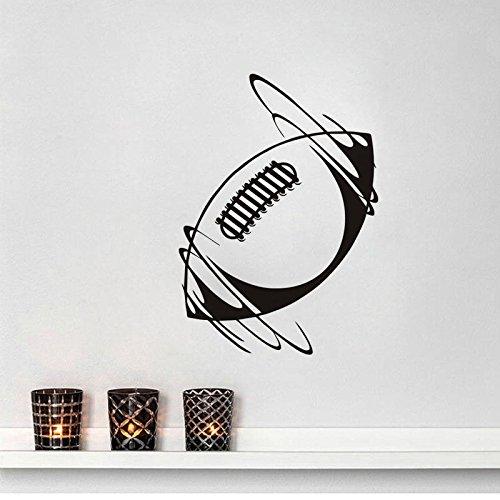 Spinning Rugby Ball Vinyl Wandaufkleber Sport Wohnkultur Aufkleber In Wind Wandtattoo Für Jungen Zimmer Neuheiten Tapete S 56X79 cm