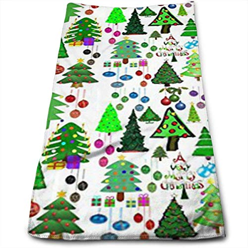 Liumiang Handtuch Exotic Merry Xmas Trees Mashup Kitchen Towels Quick-Drying Hair Towel, Beauty Towel, Sports Towel, Car Towel, Furniture Towel 30 X 70CM/12 X 27.5 in
