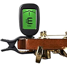 Tailcas® LCD Clip-On Chitarra Accordatore, T30W 360°Large Display Elettronico Accordatore Digitale Guitar Tuner With Highly Precise Strong Clip and Batteria for Chitarra, Basso, Violino e Cromatico Ukulele and Wind Instruments - (T30W Accordatore)