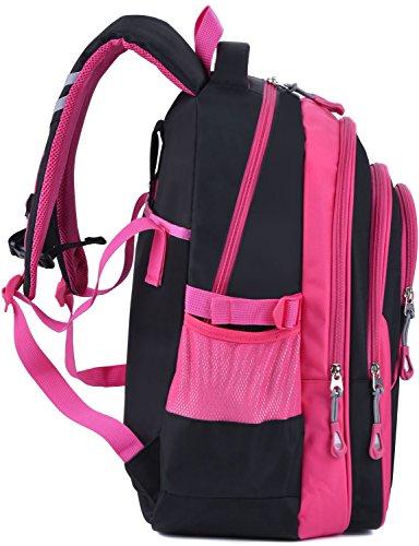 Schulrucksack Maedchen,COOFIT Mädchen Schulrucksack Rucksäcke Schulranzen Schultasche Tasche Travel Sport Outdoor Rucksack für Schüler (Coofit Design Rose) - 7