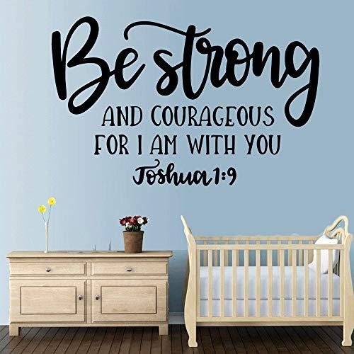 haochenli188 DIY Be Strong Quotes Vinilo Etiqueta de La Pared Decoración para El Hogar Stikers para Habitaciones de Bebé para Habitaciones de Niños DIY Home DEC 43x65cm
