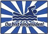 Einladungskarten schwimmen . 10 Stück Schwimmbad Poolparty Einladung zum Geburtstag Kindergeburtstag für Kinder & Erwachsene