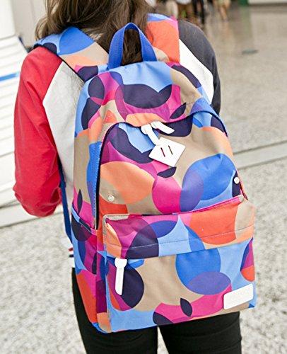 Keshi Leinwand neuer Stil Schulrucksäcke/Rucksack Damen/Mädchen Vintage Schule Rucksäcke mit Moderner Streifen für Teens Jungen Studenten Mehrfarbig