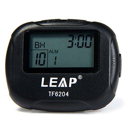 Cronometro Palestra Allenamento Fitness + Timer Ripetizioni Cicli [0-99] con 2 Intervalli Programmabili [99:99-00:01] Avviso Sonoro + Vibrazione Clip Cintura