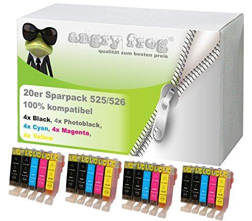 20x kompatible Druckerpatronen für Canon IP4850 IP4950 MG5150 MG5250 MG5350 MG6150 MG6250 PGI-525,CLI-526BK,CLI-526C,CLI-526M,CLI-526Y