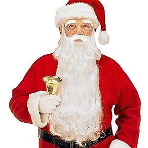 WIDMANN 1523C Papá Noel, máxima de Barba con Bigote y Cejas, Color Blanco