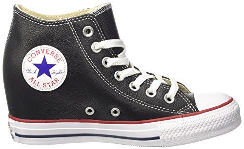 Converse Damen Ctas Mid Lux Hohe Sneaker Schwarz (nero / Nero / Bianco)