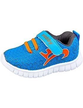 GIBRA® Kinder Sportschuhe, mit Klettverschluss, blau/orange, Gr. 22-27
