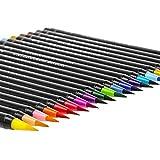 Pinselstift Brush Pen Set – Wasserfarben Pinselstift 20 Farben + 1 Wassertankpinsel – Sehr gut geeignet für Aquarell-Effekte, hand lettering, Malbücher, Kalligrafie – Bianyo®