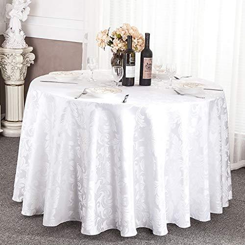 NNPE (TLMT) Tisch Rundes Tischtuch Tischdecke Hotel Tischdecke Europäisches Restaurant Tischdecke Rundes Restaurant (Size : 2.4m) -