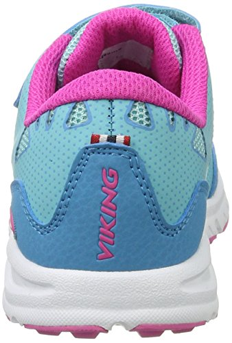 Viking - Doenna Elastic, Scarpe sportive outdoor Unisex – Bambini Blau (Turquoise/Magenta)