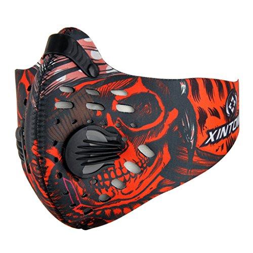 SKYSPER Atemschutzmaske Staubmaske Atemmaske Mundschutz Mundmaske Sport Maske Verschluß Ventil Feinstaubmaske Fitnessmaske PM2.5 FFP3 für Radsport Training