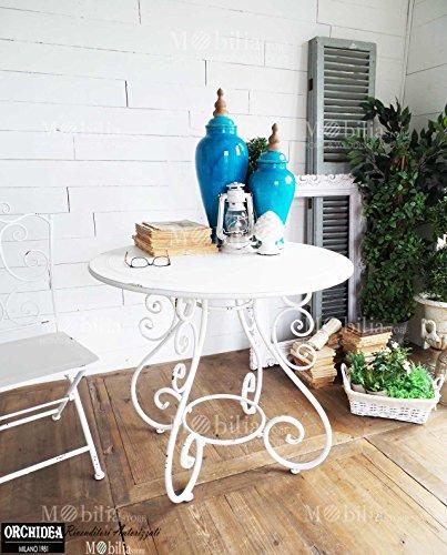 Tavoli Da Giardino Vintage.Tavoli Ferro Da Giardino Rotondi Vintage Bianco Mobili