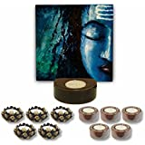 TYYC Home Decorative Candle Holders Diwali Gift Items Pious Lord Shiva Tea Light Holder- Set Of 11