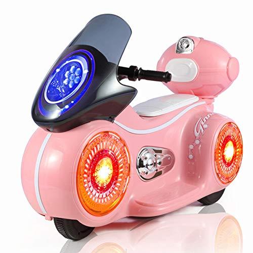 HeiDan Kinder elektrische Motorrad Baby kann sitzen dreirädrigen Kinderwagen mit Leichter Musik Kinder aufblasbare Flasche Auto spielzeugauto