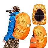 ATNKE 2-Pack Hochwertiger Nylon wasserdichter Regenhüllen Rucksack mit und elastischer Schnalle/Wandern / Camping/Radfahren / Outdoor-Aktivit?Ten / (S:18-25L, M:26-40L, L:41-55L)/S
