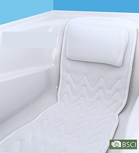 Antibakterielle Cleansing Pads (IndulgeMe Ganzkörper-Badenkissen & Matte - Rutschfest, Plus Konjac-Badeschwamm, Luxus-Kissen, stützt Kopf, Nacken, Schulter, Rücken und Steißbein, antibakteriell)