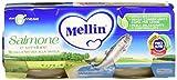 Mellin Omogeneizzato Salmone e Verdure - 24 Vasetti da 80 gr
