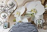 Abstrakte Orchidee Blumen Design - Wallsticker Warehouse - Fototapete - Tapete - Fotomural - Mural Wandbild - (2952WM) - XXL - 312cm x 219cm - VLIES (EasyInstall) - 3 Pieces