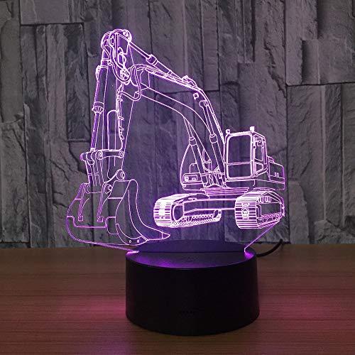 3D Bagger Nachtlicht Illusion LED Tabelle Tauchen 7 Farben USB Neuheit Auto Form Schreibtisch Nachtlicht Dekoration Lampe Kinder Geschenk -