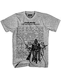 Star Wars Marching Music Grey 30 Single T-Shirt