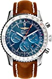 Breitling Navitimer 01 Stainless Steel on Brown Leather Strap Mens Watch AB012721/C889-443X