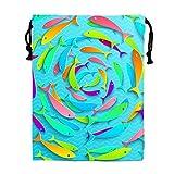 STBESY Wunderschöne Schmetterlinge Kordelzug Wasserdicht Partyzubehör Tasche Tasche für Frauen Herren M Fish Circles4