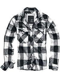 Amazon.es  cuadros blanco y negro - Camisas casual   Camisas  Ropa 341fe7e6ed83