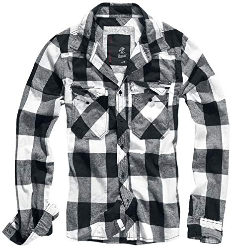 Brandit Check Shirt Weiss-Schwarz 3XL