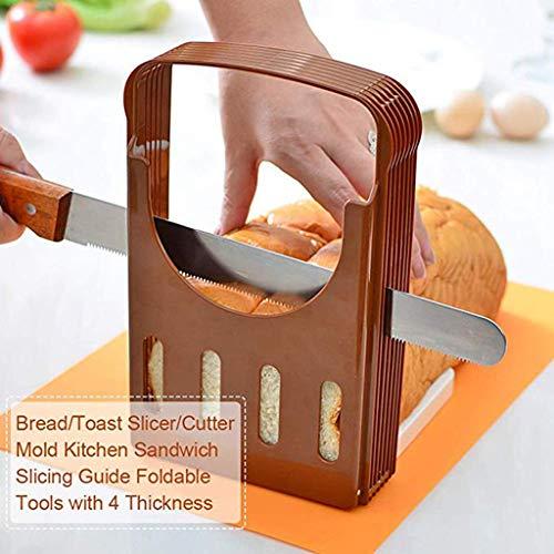 AIUSD Aidschl Reiniger, Brotschneider, faltbar, Toast, gleichmäßiges Schneidwerkzeug, Küchenhelfer