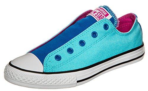 Converse Ctas Slip, Mocassini bambine multicolore Blau Blau