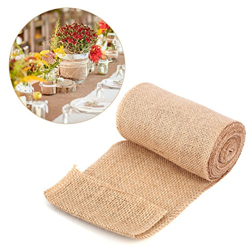 Tela arpillera para tapicería Estilo de la naturaleza de la vendimia, Arpillera de la tela de lino...