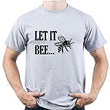 EUGINE DREAM Let It Bee Shirt Beek Keeping Tshirt Gardening Homme T-Shirt Gris L