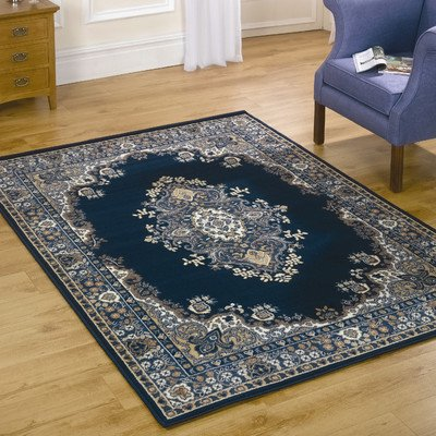 Element Lancaster Navy Contemporary Rug Rug Size: 110cm x 60cm (3 ft 7.5 in x 1 ft 11.5 in)
