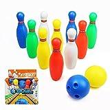 yoptote Jeu de Bowling de 10 Quilles et 2 Bowling Balle Jeu de Plein Air Jardin de Famille Société pour Enfant 3 Jahre und BIS (Moyen)