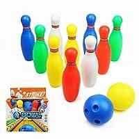 Grande promozione per Black Friday! Il prezzo più basso in quest'anno! Benvenuto per comprare!Questo prodotto è realizzato in materiali leggeri, ma resistenti, in plastica, i bambini possono godere di un divertente gioco di bowling ovunque al...