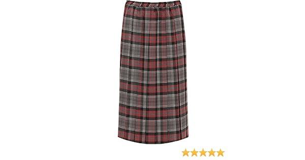 ab826fba22 WearAll Women's Plus Checked Tartan Print Elasticated Stretch Ladies Pleated  Midi Skirt - Pink - 22-24: Amazon.co.uk: Clothing
