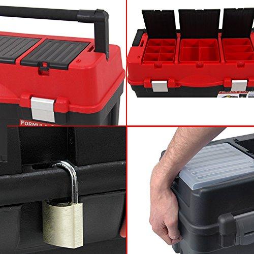 Kunststoff Werkzeugkoffer Formula S ALU 700, 60x33cm Kasten Werzeugkiste Sortimentskasten Werkzeugkasten Anglerkoffer - 2