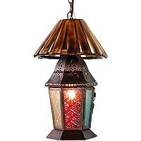 Pumpink Bohemia multicolor lámpara de araña de arte de hierro de Turquía calado patrón de linterna luces colgantes orientables creativa retro de época lámpara de techo de salón de barbero restaurante de estudio