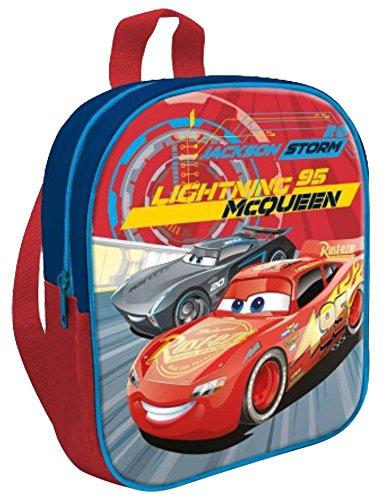 Disney CR17443Cars Saetta McQueen zainetto per bambini, 31.5 x 42.5cm, Multicolore