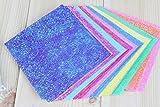 HNBGY Einfacher Stil Perlmutt Origami Papier 50 Blatt Multicolor (Größe 15X15CM)